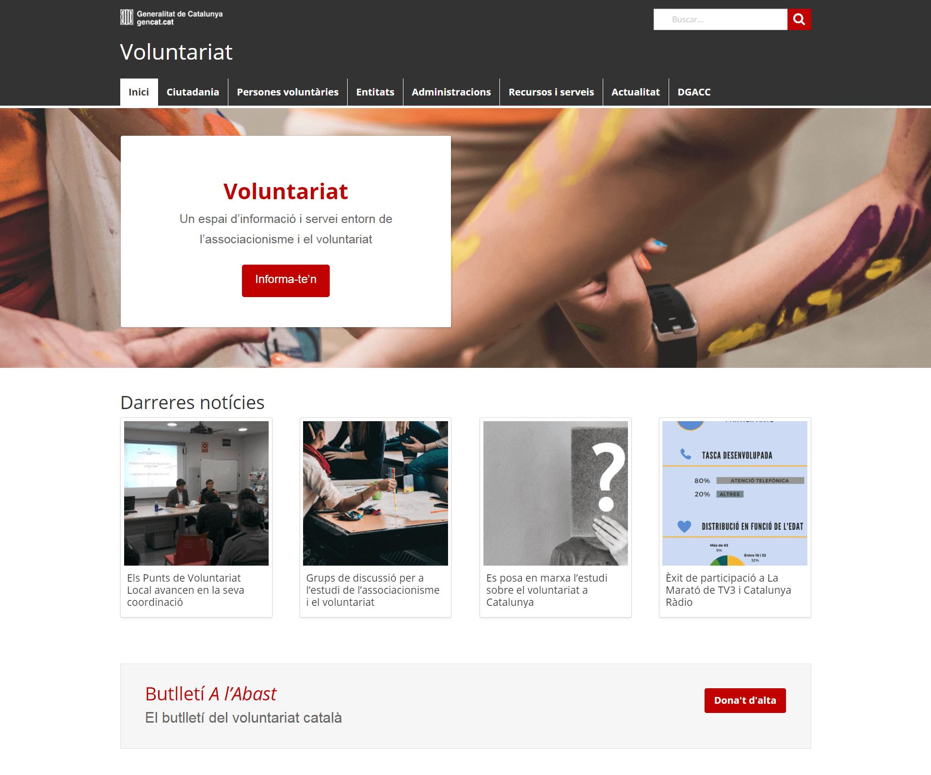 El nou portal de l'associacionisme i el voluntariat