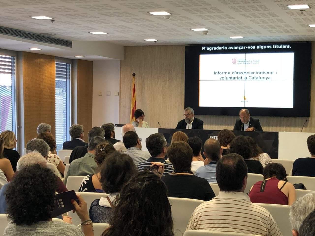 Presentació de l'Informe de l'associacionisme i el voluntariat a Catalunya 2018