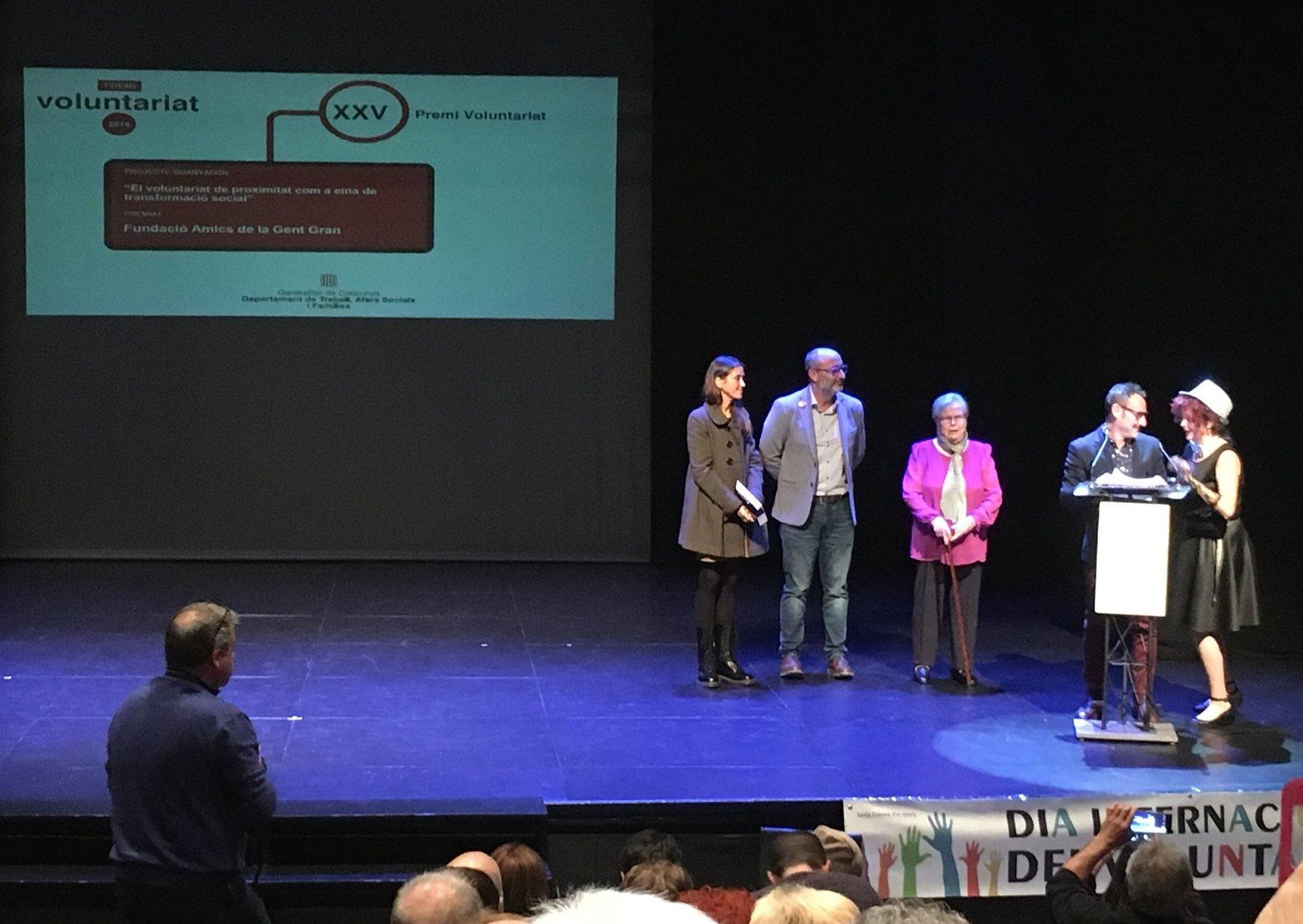 Treball, Afers Socials i Famílies lliura el Premi Voluntariat
