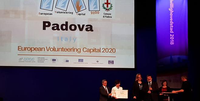 """Pàdua, guanyadora del premi """"European Volunteering Capital 2020"""""""