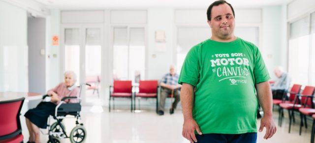 Josep Maria Perramon, voluntari a l'Associació Alba