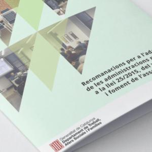 Recomanacions per a l'adaptació de les administracions a la Llei del voluntariat