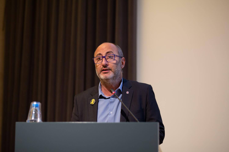 Bernat Valls, director general d'Acció Cívica i Comunitària, a l'Escola d'Estiu del Voluntariat