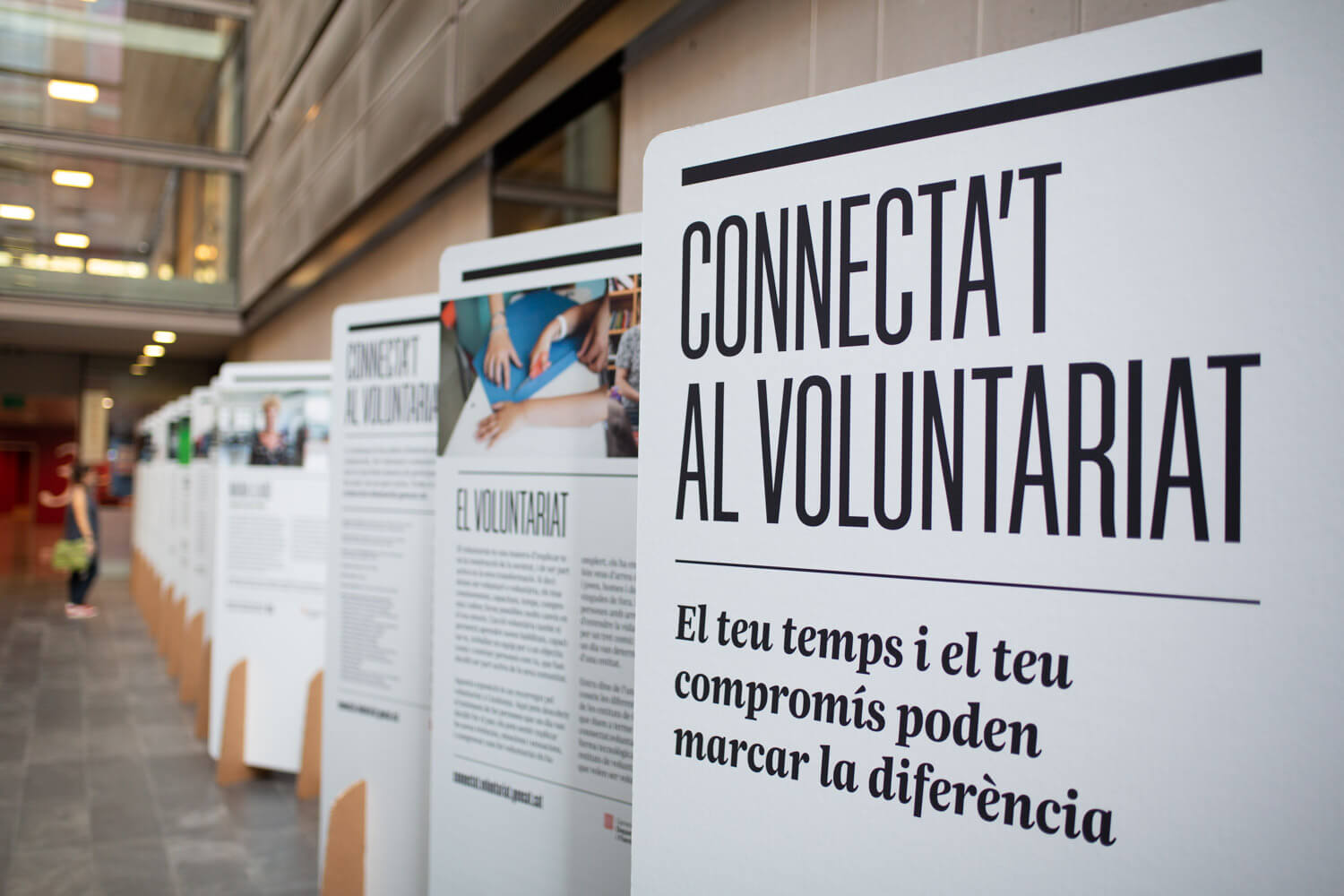Exposició Connecta't al Voluntariat