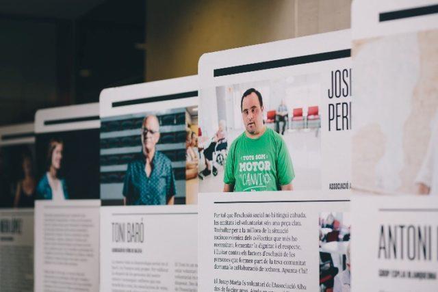 """Imatge de l'exposició itinerant """"El Voluntariat a Catalunya"""""""